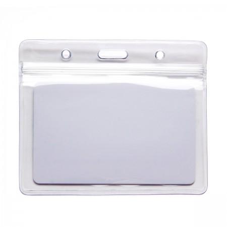 Бейдж силиконовый ZIP-02 для смарт-карт с застежкой zip-lock (горизонтальный)