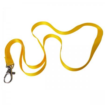 Шнурок для бейджа с одним карабином (сатиновый), 10 мм