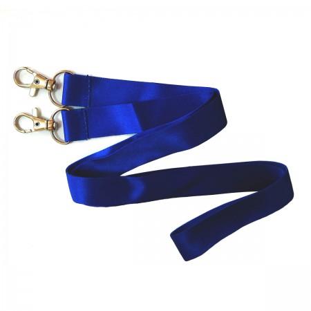 Шнурок для бейджа с двумя карабинами (сатиновый), 20 мм