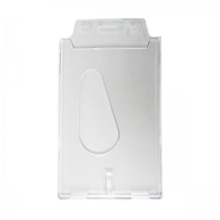 Пластиковый бейдж для карт вертикальный (прозрачный)