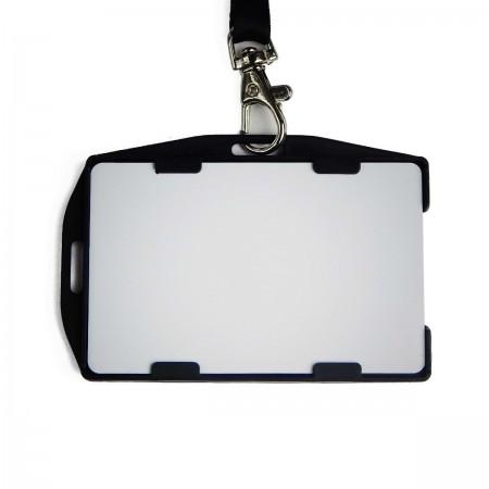Бейдж пластиковый BB-015 для карт (на 2 карты, черный)