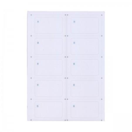 Инлей с чипом Mifare Plus 2K X (Inlay Mifare Plus 2K X) A4 (10 карт)
