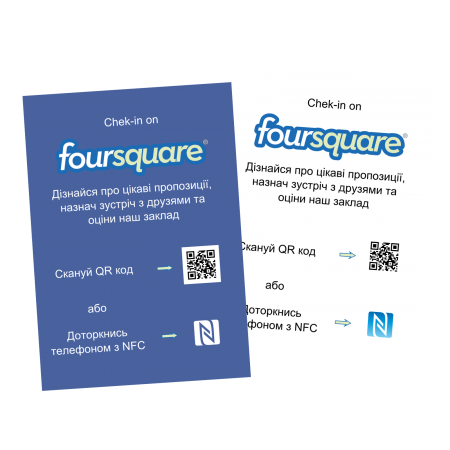 "NFC постер ""Check in on Foursquare"""