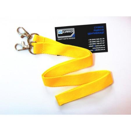 Шнурок для бейджа с 2-мя карабинами