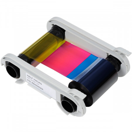 R5H004NAA Evolis Лента для полноцветной печати 1/2 панели YMCKO (к-во на 400 карт)