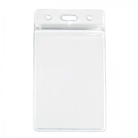 Бейдж силиконовый ZIP-01 для смарт-карт с застежкой zip-lock (вертикальный)