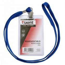 Бейдж для смарт-карт Axent (вертикальный с веревкой)