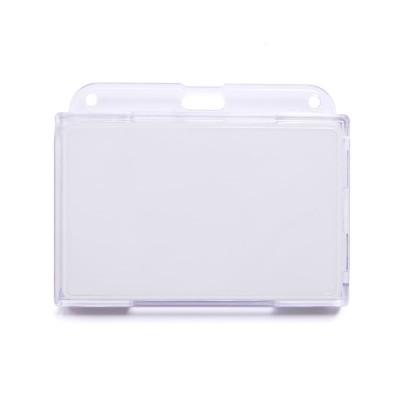 Пластиковый бейдж BTC-04 для карт (на 2 карты, прозрачный)